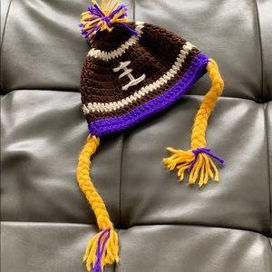 Other - Hand crochet Minnesota Vikings hat